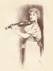 A Violinist, C1898 by Fernand Khnopff