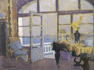 Interior with Piano by Fernand Lantoine