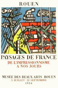Expo 58 - Musée des Beaux-Arts de Rouen by Fernand Leger