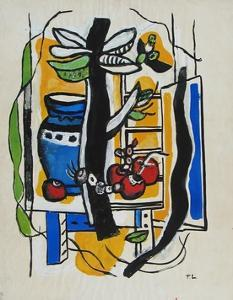 Still Life with Fruits by Fernand Leger