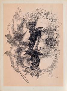 Tete et Feuille by Fernand Leger