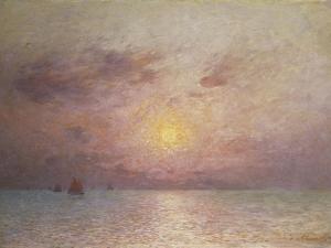 Sailing on the Sea, Evening; Voiliers Sur La Mer, Le Soir by Fernand Loyen du Puigaudeau