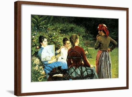 Fernanda Gioli and Her Friends-Francesco Gioli-Framed Giclee Print