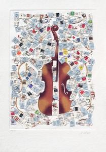 Tubes et Violons by Fernandez Arman