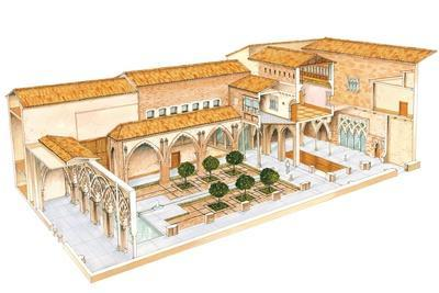 Aljaferia, Zaragoza, Spain, Islamic Palace, Santa Isabel Courtyard