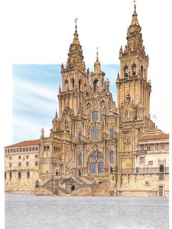 Santiago De Compostela, Western Façade, Spain