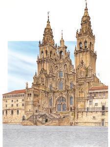 Santiago De Compostela, Western Façade, Spain by Fernando Aznar Cenamor