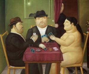 I Giocatori di Carte by Fernando Botero