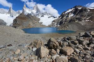 Mount Fitz Roy with Lago de los Tres near its summit in Patagonia, Argentina, South America by Fernando Carniel Machado