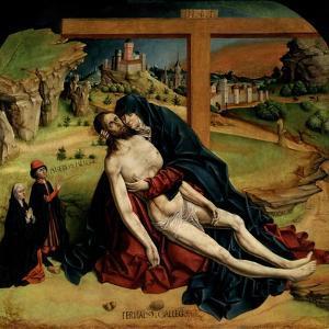 Pietà, 1465-1470 by Fernando Gallego