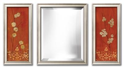 Sienna Flowers & Mirror Set