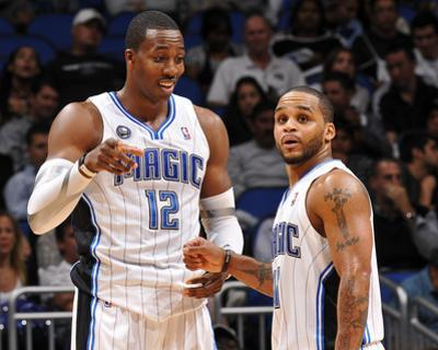 Memphis Grizzlies v Orlando Magic: Dwight Howard and Jameer Nelson