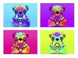Pug Psychodelic Poster XXXII by Fernando Palma