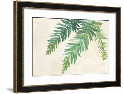 Ferns Square I on Cream-Chris Paschke-Framed Art Print