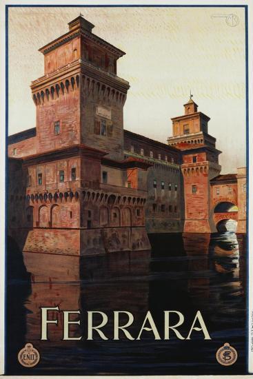 Ferrara Poster-Mario Borgoni-Giclee Print