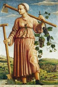 The Muse Polyhymnia, Inventor of Agriculture by Ferraresischer Meister