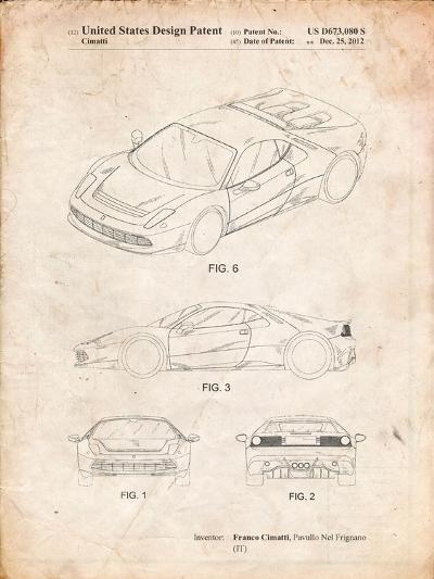 Ferrari 2012 Sp12 Patent-Cole Borders-Art Print