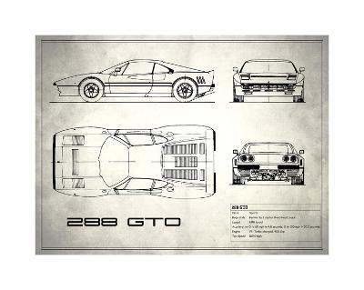 Ferrari 288-GTO White-Mark Rogan-Giclee Print