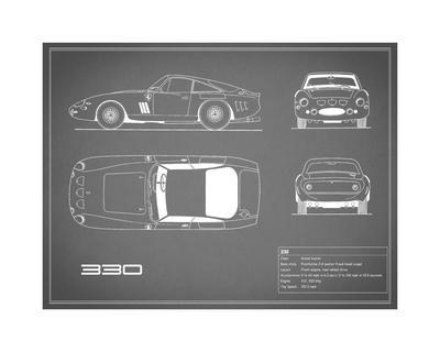 Ferrari 330-Grey-Mark Rogan-Giclee Print