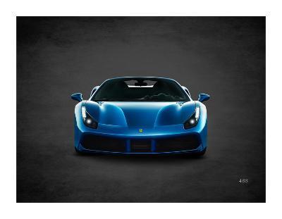 Ferrari 488-Mark Rogan-Giclee Print