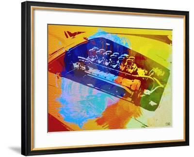 Ferrari Engine Watercolor-NaxArt-Framed Art Print