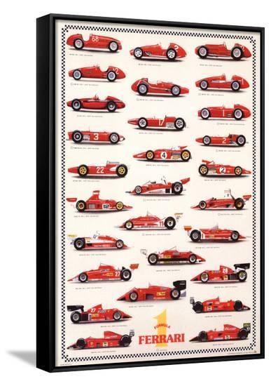Ferrari Formula I - International Edition--Framed Canvas Print
