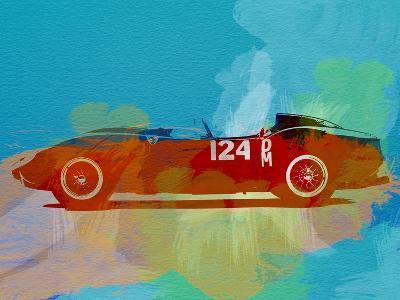 Ferrari Testa Rossa Watercolor 1-NaxArt-Art Print
