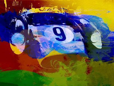 Ferrari Testarossa Watercolor-NaxArt-Art Print