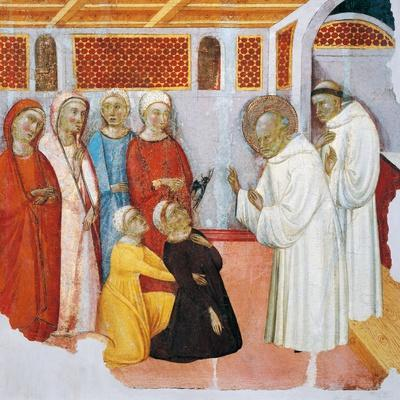 St Bernard of Clairvaux Exorcising Someone Possessed