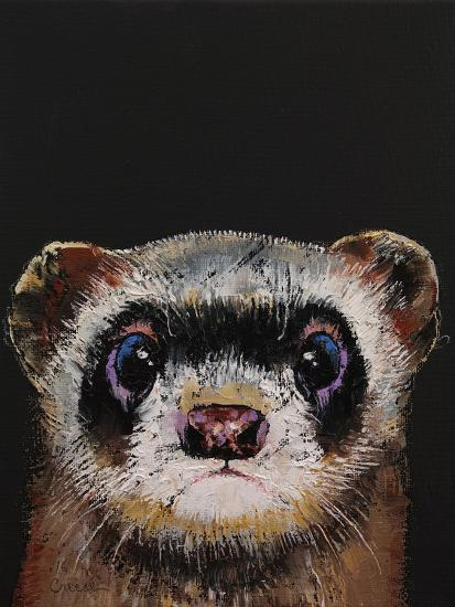 Ferret-Michael Creese-Art Print