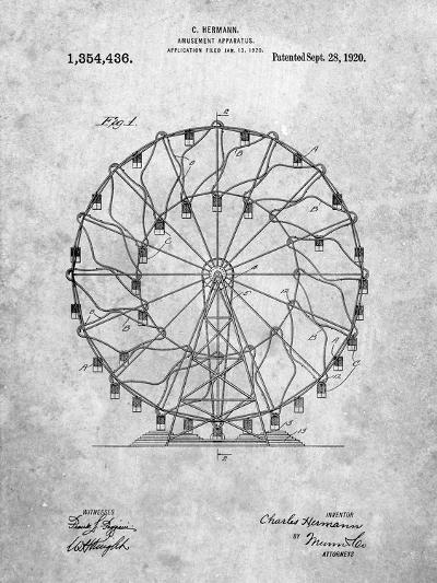 Ferris Wheel 1920 Patent-Cole Borders-Art Print
