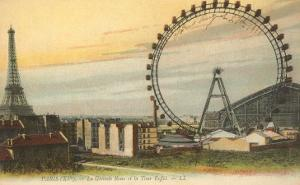 Ferris Wheel and Eiffel Tower, France