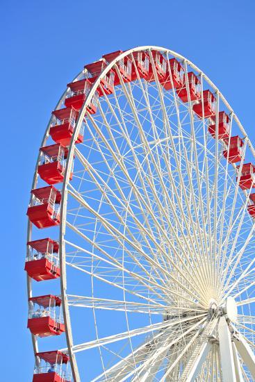 Ferris Wheel at Navy Pier, Chicago-soupstock-Photographic Print