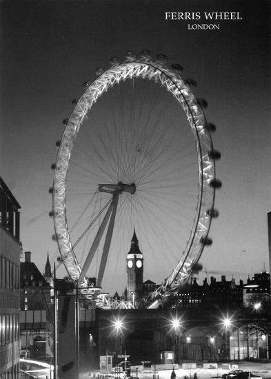 Ferris Wheel, London--Art Print