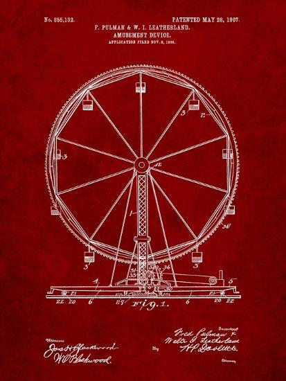 Ferris Wheel-Cole Borders-Art Print
