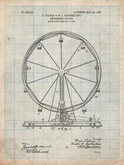 Ferris Wheel-Cole Borders-Art Print