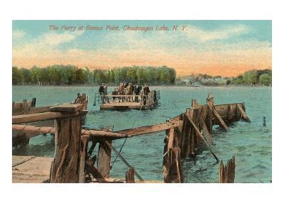 Ferry at Bemus Point, Chautauqua, New York--Art Print