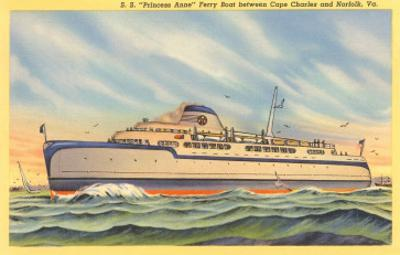 Ferry between Cape Charles and Norfolk, Virginia
