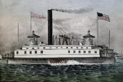 Ferry Boat to New York, 1869, United States, 19th Century--Giclee Print