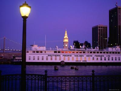 Ferry Building from Pier 5, Dusk, San Francisco, California-Thomas Winz-Photographic Print