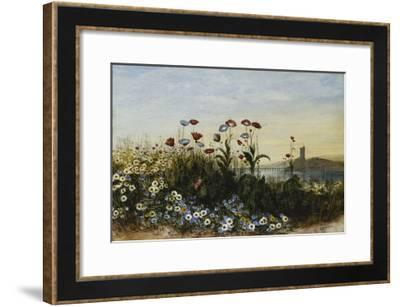 Ferry Carrig Castle, Co. Wexford, Seen Through a Bank of Wild Flowers-Andrew Nicholl-Framed Giclee Print