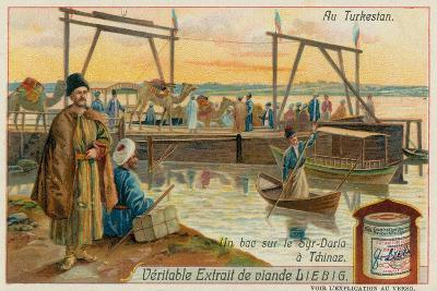 Ferry Crossing the Syr-Darya River at Khujand in Tajikistan--Giclee Print