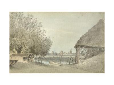 Ferry Hinksey, Near Oxford, 15 June 1789 (Watercolour over Graphite, on Paper)-John Baptist Malchair-Giclee Print
