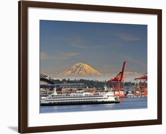 Ferry Leaving Seattle, Seattle, Washington, USA-Richard Duval-Framed Photographic Print
