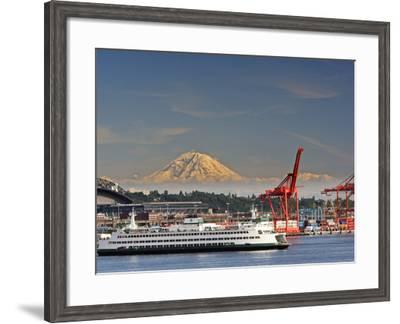 Ferry Leaving Seattle, Seattle, Washington, USA-Richard Duval-Framed Photographic Print