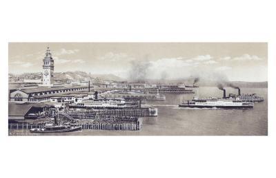 Ferry Slips--Art Print