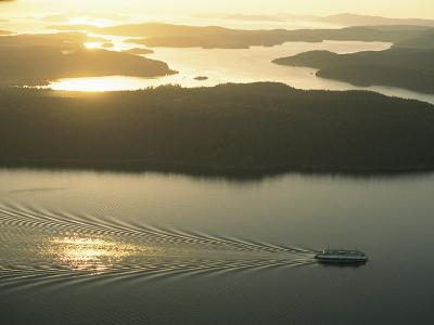 Ferry Travels the Waterways of the San Juan Islands-Phil Schermeister-Photographic Print