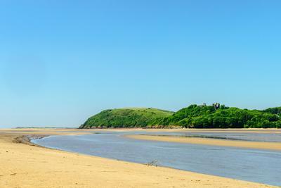 Ferryside Beach, the Coast of Carmarthenshire, Showing the Estuary of the River Tywi- Freespiritcoast-Photographic Print