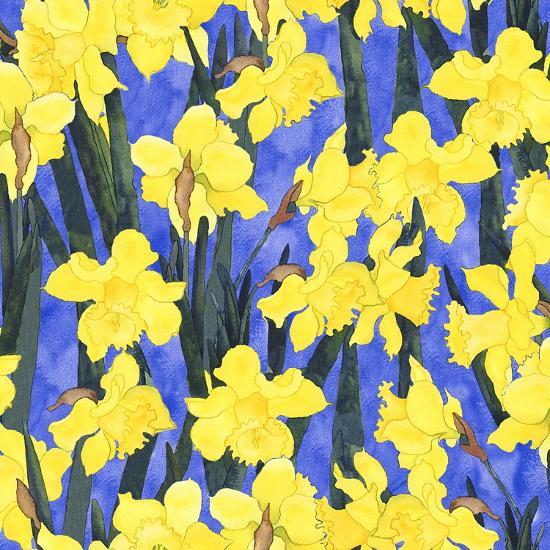 Fertile Rising Pattern - Daffodils-Carissa Luminess-Giclee Print