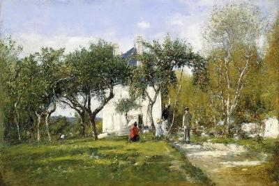 Fervaques, Garden and House of Monsieur Jacquette, 1877-Eug?ne Boudin-Giclee Print